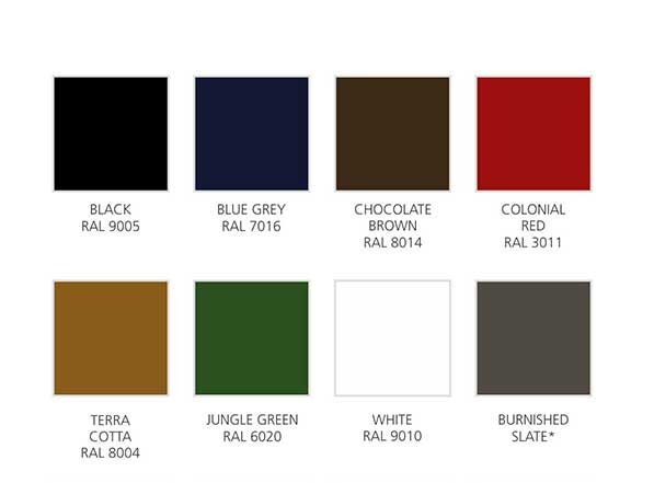 Metal Roofing Colours